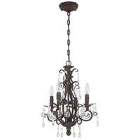 Craftmade 25614-FR Englewood 4 Light 14 inch French Roast Chandelier Ceiling Light