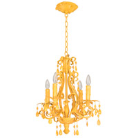 Craftmade 25614-TY Englewood 4 Light 14 inch Tourmaline Yellow Mini Chandelier Ceiling Light