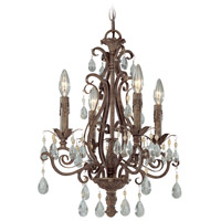 Jeremiah by Craftmade Englewood 4 Light Chandelier in French Roast 25624-FR