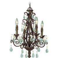 Craftmade 25624-FR Englewood 4 Light 17 inch French Roast Chandelier Ceiling Light