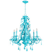 Craftmade 25626-TQ Englewood 6 Light 29 inch Turquoise Chandelier Ceiling Light