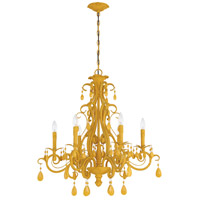 Craftmade 25626-TY Englewood 6 Light 29 inch Tourmaline Yellow Chandelier Ceiling Light