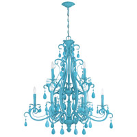 Craftmade 25629-TQ Englewood 9 Light 35 inch Turquoise Chandelier Ceiling Light