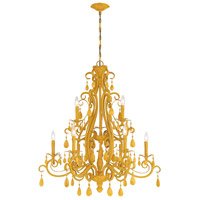 Craftmade 25629-TY Englewood 9 Light 35 inch Tourmaline Yellow Chandelier Ceiling Light