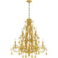 Craftmade 25629-TY Englewood 9 Light 35 inch Tourmaline Yellow Chandelier Ceiling Light