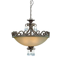 Jeremiah by Craftmade Englewood 4 Light Convertible Semi-Flush Pendant in French Roast 25634-FR