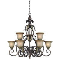 Jeremiah by Craftmade Devereaux 9 Light Chandelier in Burleson Bronze 25729-BBZ