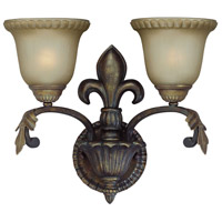 Jeremiah by Craftmade Devereaux 2 Light Wall Sconce in Burleson Bronze 25732-BBZ