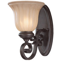 LaGrange 1 Light 7 inch Seville Iron Wall Sconce Wall Light in Amber Etched