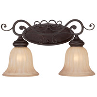 Jeremiah by Craftmade Lagrange 2 Light Vanity Light in Seville Iron 25802-SI