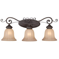Jeremiah by Craftmade Lagrange 3 Light Vanity Light in Seville Iron 25803-SI