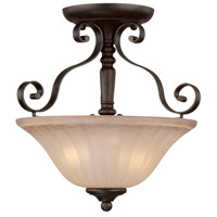 Jeremiah by Craftmade Lagrange 2 Light Semi-Flush in Seville Iron 25822-SI