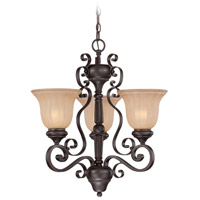 Lagrange 3 Light 22 inch Seville Iron Chandelier Ceiling Light in Amber Etched