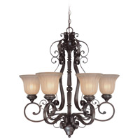 Jeremiah by Craftmade Lagrange 6 Light Chandelier in Seville Iron 25826-SI