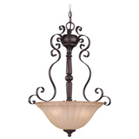 Jeremiah by Craftmade Lagrange Inverted 3 Light Pendant in Seville Iron 25833-SI