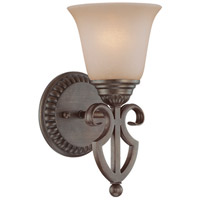 Gatewick 1 Light 6 inch Century Bronze Wall Sconce Wall Light in Light Tea-Stained Glass