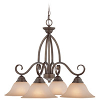 Jeremiah by Craftmade Gatewick Down-Light 4 Light Chandelier in Century Bronze 26024-CB