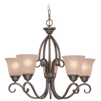 Jeremiah by Craftmade Gatewick 5 Light Chandelier in Century Bronze 26025-CB