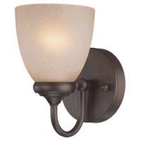 Spencer 1 Light 5 inch Bronze Wall Sconce Wall Light in Tea-Stained Glass