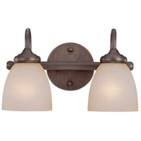 Craftmade 26102-BZ Spencer 2 Light 14 inch Bronze Vanity Light Wall Light in Tea-Stained Glass