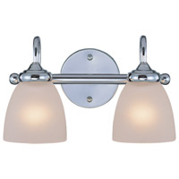 Craftmade 26102-CH Spencer 2 Light 14 inch Chrome Vanity Light Wall Light in Frosted
