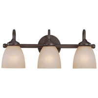 Craftmade 26103-BZ Spencer 3 Light 20 inch Bronze Vanity Light Wall Light in Tea-Stained Glass