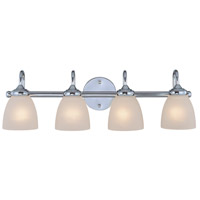 Craftmade 26104-CH Spencer 4 Light 28 inch Chrome Vanity Light Wall Light in Frosted