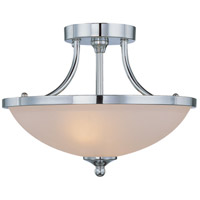 Spencer 2 Light 14 inch Chrome Semi Flush Mount Ceiling Light in Frosted