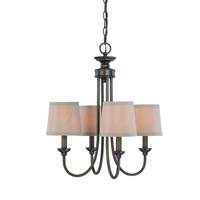 Jeremiah by Craftmade Spencer 4 Light Chandelier in Bronze 26124-BZ