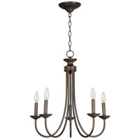 Craftmade 26125-BZ Spencer 5 Light 22 inch Bronze Chandelier Ceiling Light in Tea-Stained Glass, Shades Sold Separately