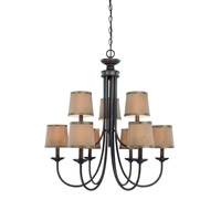 Jeremiah by Craftmade Spencer 9 Light Chandelier in Bronze 26129-BZ