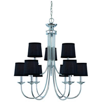 Spencer 9 Light 27 inch Chrome Chandelier Ceiling Light in Frosted, Shades Sold Separately
