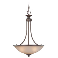 Craftmade 26133-BZ Spencer 3 Light 16 inch Bronze Inverted Pendant Ceiling Light in Tea-Stained Glass