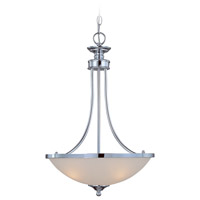 Craftmade 26133-CH Spencer 3 Light 16 inch Chrome Inverted Pendant Ceiling Light in Frosted
