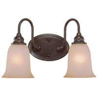 Craftmade 26302-OLB Linden Lane 2 Light 16 inch Old Bronze Vanity Light Wall Light in Light Tea-Stained Glass