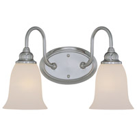 Craftmade 26302-SN Linden Lane 2 Light 16 inch Satin Nickel Vanity Light Wall Light in Frosted