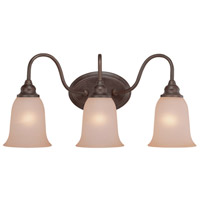 Craftmade 26303-OLB Linden Lane 3 Light 23 inch Old Bronze Vanity Light Wall Light in Light Tea-Stained Glass
