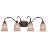 Jeremiah by Craftmade Linden Lane 4 Light Vanity Light in Old Bronze 26304-OB