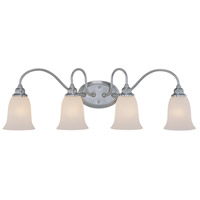 Craftmade 26304-SN Linden Lane 4 Light 32 inch Satin Nickel Vanity Light Wall Light in Frosted