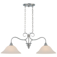 Craftmade 26322-SN Linden Lane 2 Light 35 inch Satin Nickel Island Light Ceiling Light in Frosted