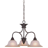 Craftmade 26323-OLB Linden Lane 3 Light 26 inch Old Bronze Down Chandelier Ceiling Light in Light Tea-Stained Glass