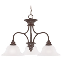 Linden Lane 3 Light 26 inch Old Bronze Chandelier Ceiling Light in White Frosted Glass