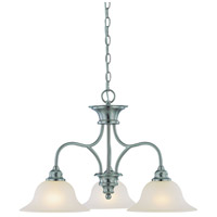 Craftmade 26323-SN Linden Lane 3 Light 26 inch Satin Nickel Down Chandelier Ceiling Light in Frosted