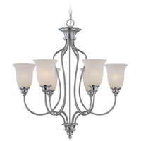 Linden Lane 6 Light 28 inch Satin Nickel Chandelier Ceiling Light in Frosted