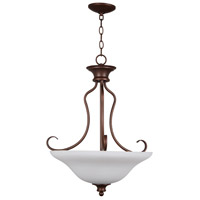 Linden Lane 3 Light 21 inch Old Bronze Pendant Ceiling Light in White Frosted Glass
