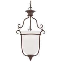 Linden Lane 3 Light 18 inch Old Bronze Foyer Ceiling Light in White Frosted Glass