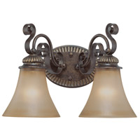 Jeremiah by Craftmade Kingsley 2 Light Vanity Light in Century Bronze 26502-CB