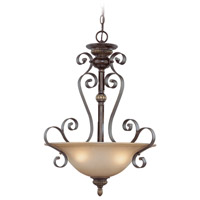 Jeremiah by Craftmade Kingsley Inverted 3 Light Pendant in Century Bronze 26523-CB