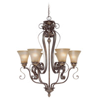 Jeremiah by Craftmade Kingsley 6 Light Chandelier in Century Bronze 26526-CB