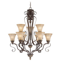 Jeremiah by Craftmade Kingsley 9 Light Chandelier in Century Bronze 26529-CB